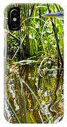 Great Blue Heron In The Wetlands IPhone Case