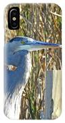 Great Blue Heron On Guard IPhone Case