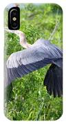 Great Blue Heron Takeoff IPhone Case