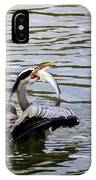 Great Blue With A Drum IPhone Case