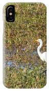 Great Egret Fishing IPhone Case