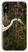 Great Egret In The Garden IPhone Case