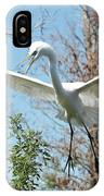 Great Egret Over The Treetops IPhone Case