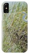 Great Egret Through Reeds IPhone Case