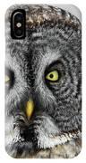 Great Gray Owl Portrait IPhone Case
