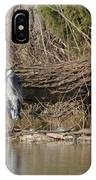 Great Heron And Turtles  IPhone Case