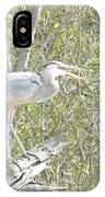 Great Heron With Mouth Open IPhone Case