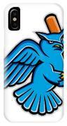 Great Horned Owl Baseball Mascot IPhone Case