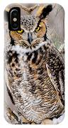 Great Horned Owl Nature Wear IPhone Case