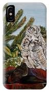 Great Horned Owl - Owl On The Rocks IPhone Case