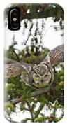 Great Horned Owl Takeoff IPhone Case