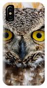 Great Horned Stare IPhone Case