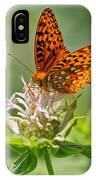 Great Spangled Fritillary On Bee Balm IPhone Case