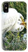 Great White Egret Family IPhone Case