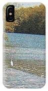 Great White Egret Fishing  IPhone Case