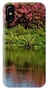 Great White Egret Hunting In A Pond In Mexico With Iguana And Re IPhone Case