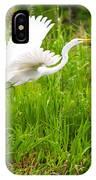 Great White Heron Takeoff IPhone Case