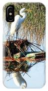Great White On Row Boat IPhone Case