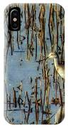 Greater Yellowleg In Reeds IPhone Case