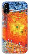 Wailing Wall Greatness In The Evening Jerusalem Palette Knife Painting IPhone Case