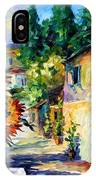 Greek Noon - Palette Knife Oil Painting On Canvas By Leonid Afremov IPhone Case