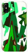 Green Abstract Squared #2 IPhone Case