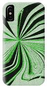Green And Black Embroidered Butterfly Abstract IPhone Case