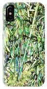 Green Bamboo Tree IPhone Case