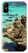 Green Blue Ocean Water And Rocks IPhone Case