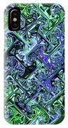 Green Crystal Digital Abstract IPhone Case