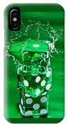 Green Dice Splash IPhone Case