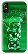 Green Dice Splash IPhone Case