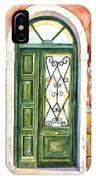Green Door In Venice Italy IPhone Case