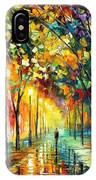 Green Dreams - Palette Knife Oil Painting On Canvas By Leonid Afremov IPhone Case