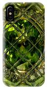 Green Emerald And White Diamond Brooch Distortion Aa H A IPhone Case