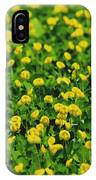 Green Field Of Yellow Flowers 1 IPhone Case