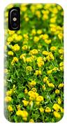 Green Field Of Yellow Flowers 2 1 IPhone Case