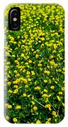 Green Field Of Yellow Flowers 3 IPhone Case