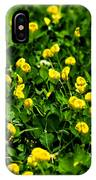 Green Field Of Yellow Flowers 4 IPhone Case