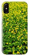 Green Field Of Yellow Flowers IPhone Case