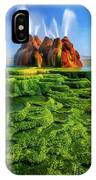 Green Fly Geyser IPhone Case