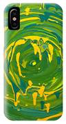 Green Forest Swirl IPhone Case