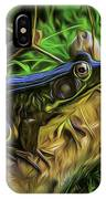 Green Frog On A Brown Log IPhone Case