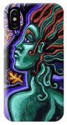Green Goddess With Butterfly IPhone Case