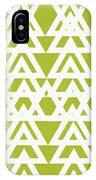 Green Graphic Diamond Pattern IPhone Case