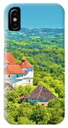 Green Hills Of Zagorje Region And Veliki Tabor Castle View IPhone Case