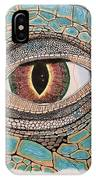Green Iguana Eye IPhone Case