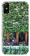 Green Ivy Window  IPhone Case