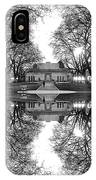 Green Lake Bathhouse Black And White Reflection IPhone Case