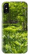 Green Landscape Of Summer Foliage IPhone Case